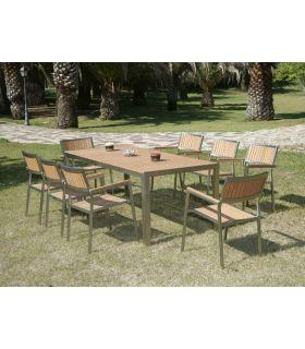 Comprar online Mesas de Aluminio y Madera : Colección ALGAIDA rectangular