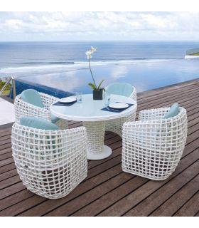 Comprar online Mesa de Comedor Redonda de Terraza y Jardín : Colección DYNASTY