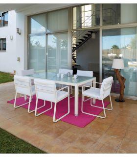 Comprar online Mesas de Comedor de Aluminio : Colección RITA