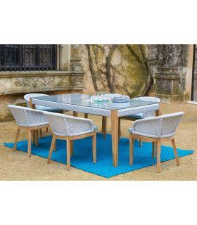 Comprar online Mesa de Comedor para Exterior en Textil y Teka : Colección OCEAN