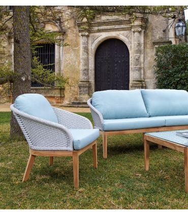 Mesa de Comedor para Exterior en Textil y Teka : Colección OCEAN