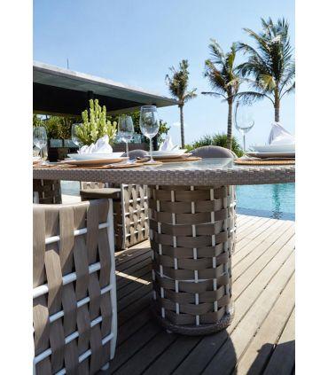 Mesa de Comedor Ovalada para Terraza y Jardín : Colección STRIPS