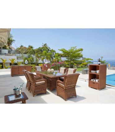 Mesa rectangular de Terraza y Jardín : Colección EBONY