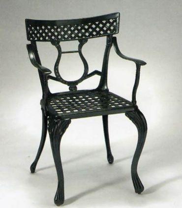 Silla y sillón de fundición Aluminio Mod. LIRA