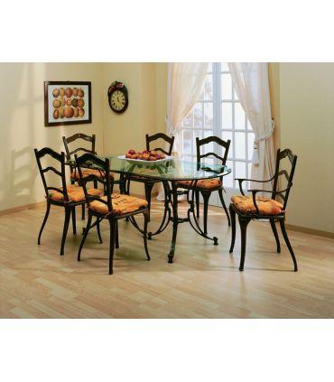 Silla y sillón de fundición Aluminio Mod. AVILA