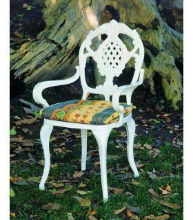 Silla y sillón de fundición Aluminio Mod. FLORIDA