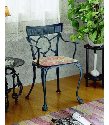 Silla y sillón de fundición Aluminio Mod. GÜELL