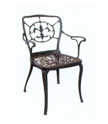 Silla o sillón de fundición Aluminio Mod. FLOR DE LYS