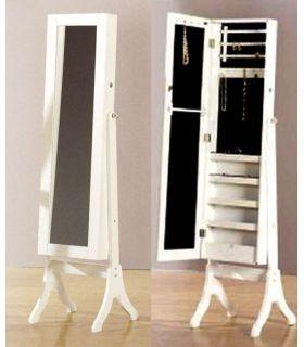 Comprar online Joyeros de Madera de Pie con Espejo Vestidor : Modelo FINE Blanco