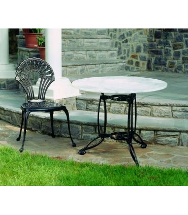 Silla y sillón de fundición Aluminio Mod. PALMA