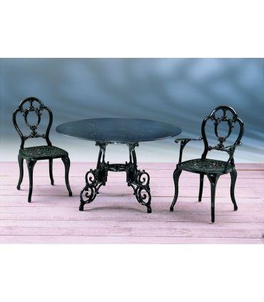 Silla y sillón de fundición Aluminio Mod. ORLANDO