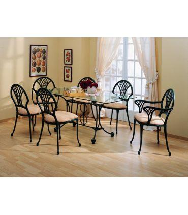 Silla y sillón de fundición Aluminio Mod. TIJUANA