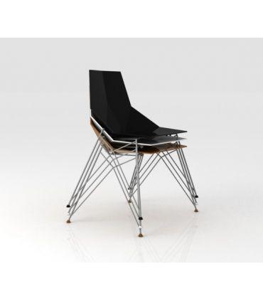 Set de 4 Sillas de Diseño (patas de acero) : Colección FAZ