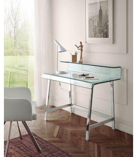 Comprar online Mesa de Escritorio en Cristal templado y Acero Modelo EIBAR