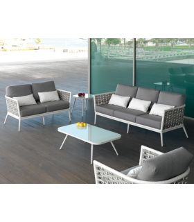 Sofá de 2 Plazas para Terraza y Jardín : Colección VIENA