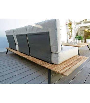 Sofás Modulares de Aluminio y Teka : Colección CALCUTA