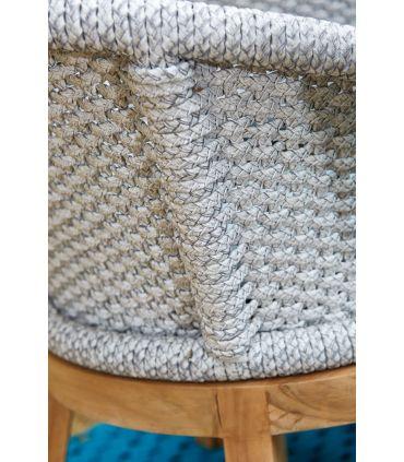 Sofá de Exterior en Textil y Teka : Colección OCEAN