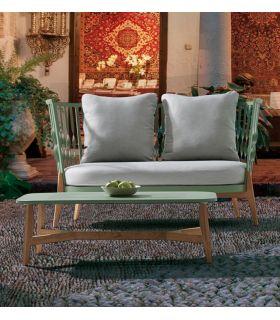 Comprar online Sofá de 2 Plazas de Aluminio y Teka : Colección FLOAT
