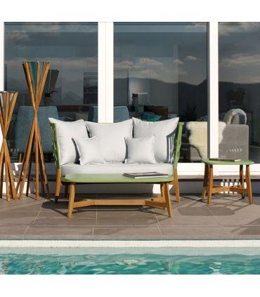 Sofá de 2 Plazas de Aluminio y Teka : Colección FLOAT