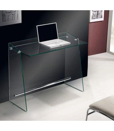 Mesa de Estudio de Cristal transparente : Modelo MIRANDA