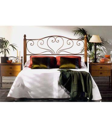 Cabecero de cama en forja y madera : modelo SANDRA