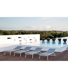 Comprar online Tumbona de Aluminio para Terraza y Jardín : Modelo HYDRA