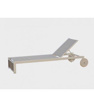 Tumbona de Aluminio y Rattan Sintético : Colección OLIVIA