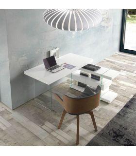 Comprar online Escritorio de madera lacada y cristal : Modelo ROCK