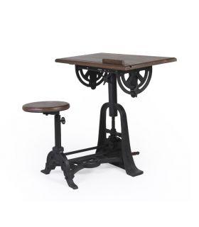 Mesa de escritorio con Taburete Colección PIPA