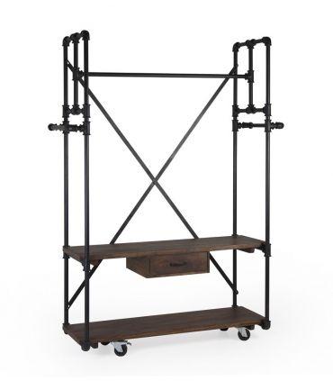 Estantería en metal y madera Colección PIPA