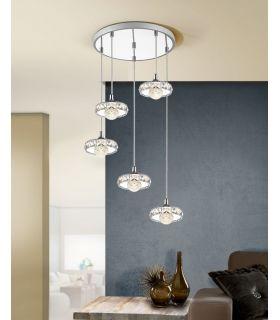 Comprar online Lámpara Circular con 5 Colgantes LED Colección SURIA