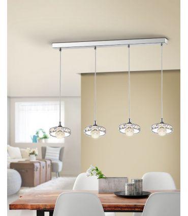 Lámpara Lineal de 4 Colgantes LED Colección SURIA