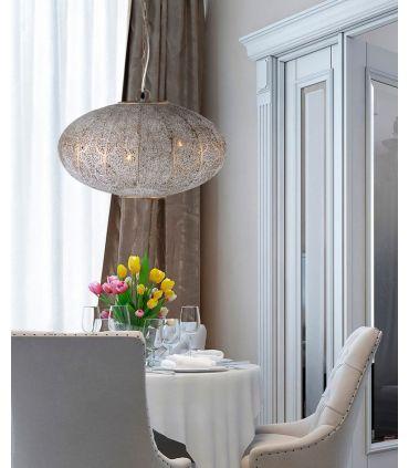 Lámpara Ovalada de Estilo Étnico Modelo INDIA 3 Luces
