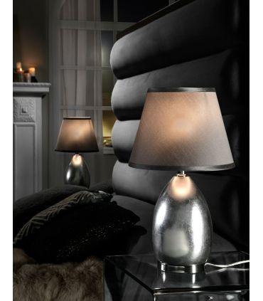 Lámpara de Sobremesa en Pan de Plata OVALIS