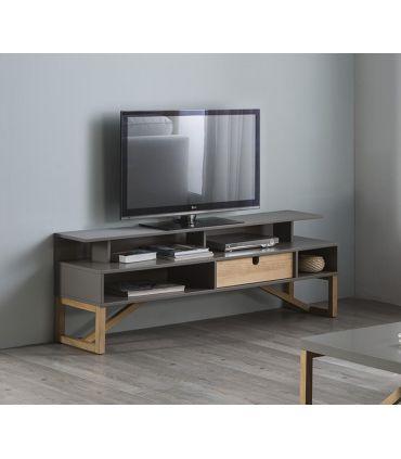 Mesa de Televisión de Estilo Nórdico Modelo GALIA Antracita