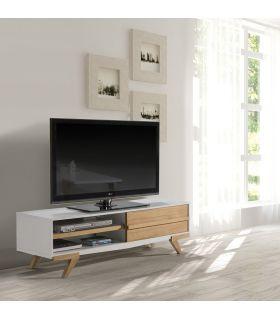 Comprar online Mueble de Televisión Moderno en Madera MARTINA Blanco
