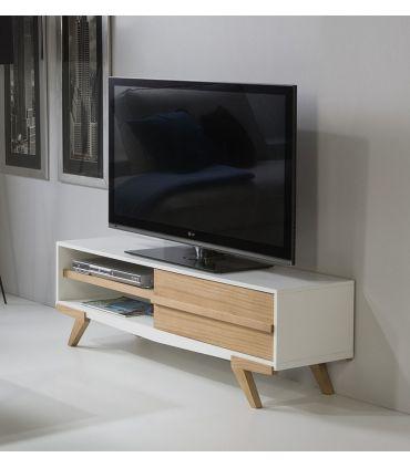 Mueble de Televisión Moderno en Madera MARTINA Blanco