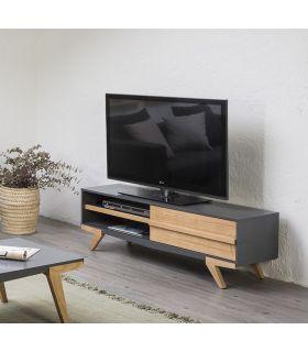 Comprar online Mueble de Televisión Moderno en Madera MARTINA Antracita
