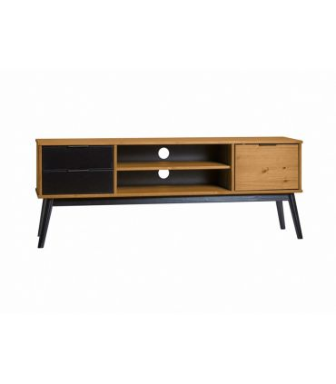 Mesa de televisión en madera de Pino Colección LUCIE