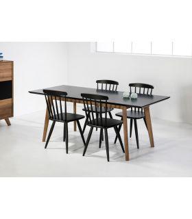Comprar online Mesa de Comedor Extensible TIVOLI Negro/Roble
