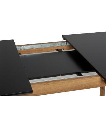 Mesa de Comedor Extensible TIVOLI Negro/Roble