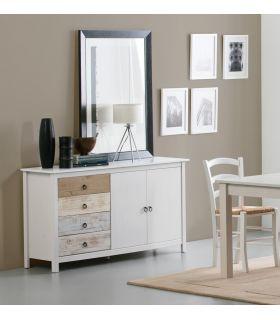 Comprar online Mueble Aparador con puertas y cajones Colección FLORA