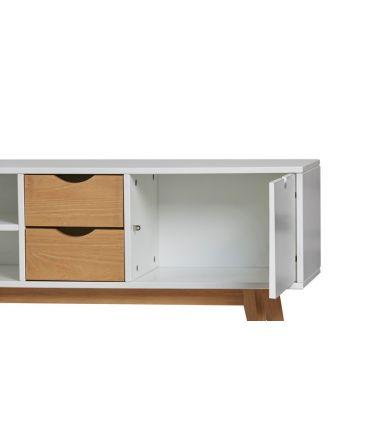 Mesa de Televisión de estilo Moderno MILA Blanco