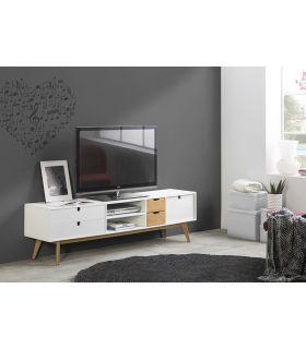 Comprar online Mesa de Televisión de estilo Moderno MILA Blanco