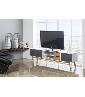 Mesa de Televisión de estilo Moderno MILA Antracita