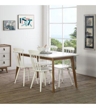 Mesa de Comedor Extensible en Madera Colección JAVA