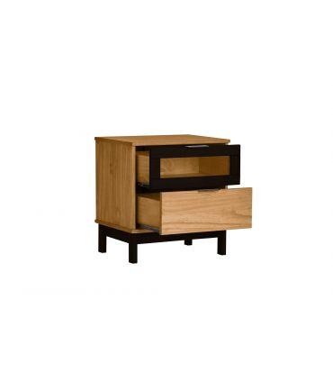 Mesita de Noche en madera de Pino Colección DENISE