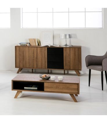 Mueble Aparador en Madera Colección TIVOLI negro roble