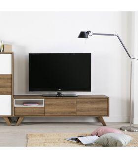 Comprar online Mesa de Televisión en Madera Colección TIVOLI Blanco