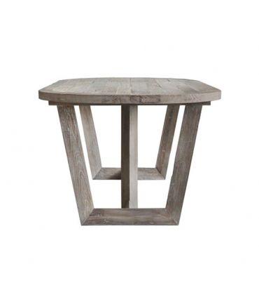 Mesa de Comedor en Madera de Olmo Modelo MORGAN